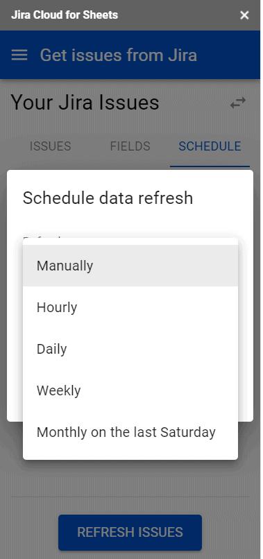 Automatically export Jira Data to Google Sheets
